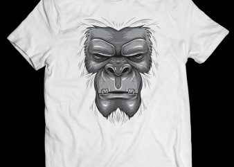 Gorilla Face – Vector T-shirt Design