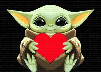 Baby yoda heart png,Baby yoda heart,Baby yoda valentines png,Happy valentine's day png,Happy valentine's day baby yoda png,Happy valentine's day baby yoda, t-shirt design png