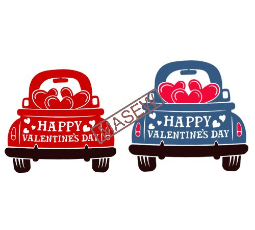 Valentine S Red Truck Svg Happy Valentine S Day Svg Dxf Eps Png Vintage Truck Svg Love Truck Svg Hearts Silhouette Cricut Cut Files Vector T Shirt Design For Commercial Use Buy T Shirt Designs