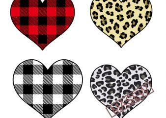 Valentine's Day, Love, Heart, Leopard, Buffalo, Valentine EPS SVG PNG DXF digital download design for t shirt