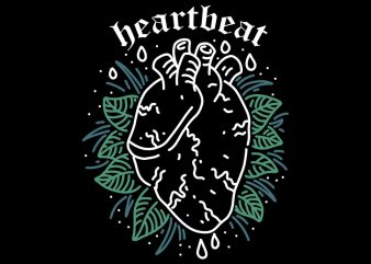 heartbeat t shirt design template