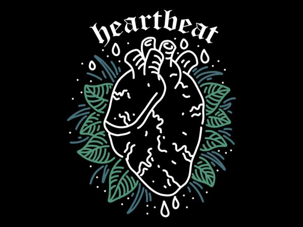 heartbeat t shirt design template