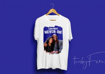 Kob Bryant (RIP) and Gianna Love t shirt design for download