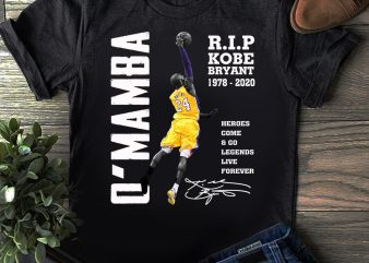O'Mamba Kobe Bryant Legend Black Mamba 1978 – 2020 T shirt buy t shirt design for commercial use