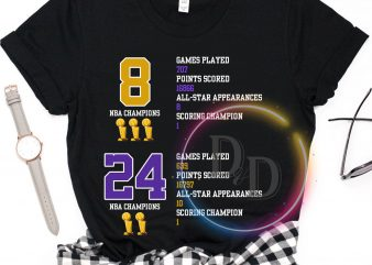 Kobe Bryant Champion Legend Black Mamba 1978 – 2020 T shirt ready made tshirt design