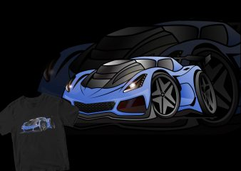 lamborghini cartoon t shirt vector graphic