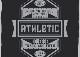 Athletic label design
