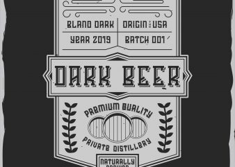 Dark beer label design