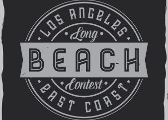 Beach label design