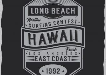 Hawaii label design