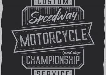 Motorcycle label design