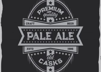 Pale ale label design