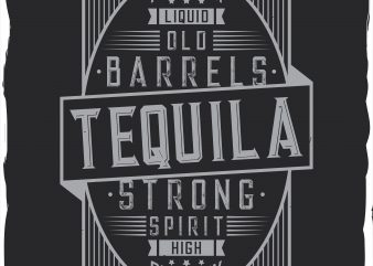 Tequila label design