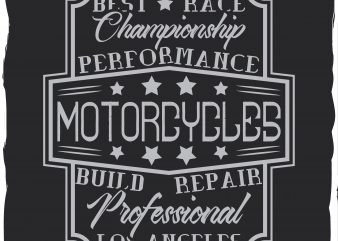Motorcycle repair label t shirt designs for sale