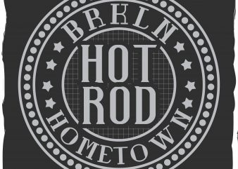 Hot rod label graphic t shirt