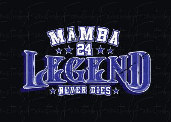 Kob Bryant (Legends Never Die) Print T-Shirt Design
