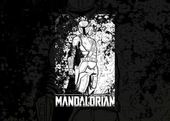 The mandalorian baby yoda t shirt designs for sale