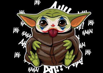 joker mandalorian baby yoda vector clipart