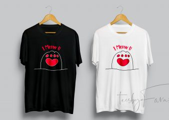 Cats love t shirt design for sale