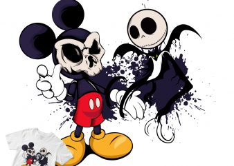 MICKEY MOUSE THE WITCH graphic t-shirt design