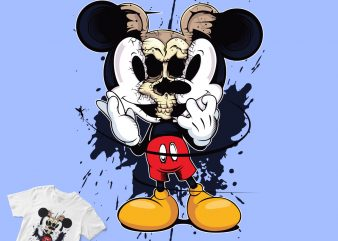 mickey mouse torn skull, disney cartoon shirt shirt design png