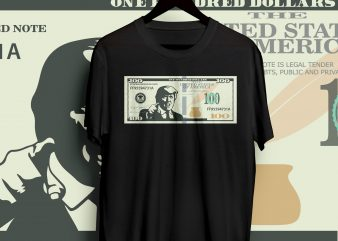 DONALD TRUMP 100 DOLLLAR BILL T SHIRT