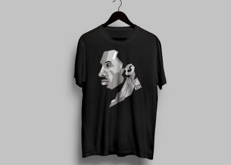 KOBE BRYANT VECTOR graphic t-shirt design