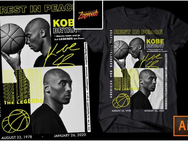 RIP Kobe Bryant #1- t shirt Design