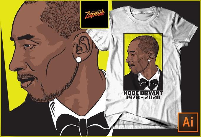 RIP Kobe Bryant #2 – t shirt Design Vector