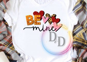 Be Mine Cute Font Valentine Design T shirt