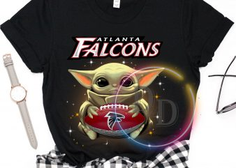 Atlanta Falcons Baby Yoda Funny Football Fan T shirt, Football US