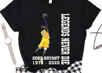 Rip Kobe Bryant O'Mamba Legends Never Die Lakers Basketball T shirt design
