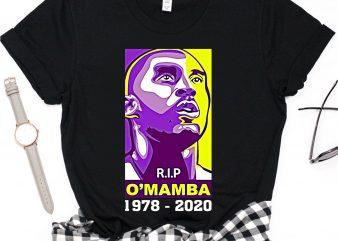 Rip Kobe Bryant O'Mamba Legends Lakers Basketball T shirt design
