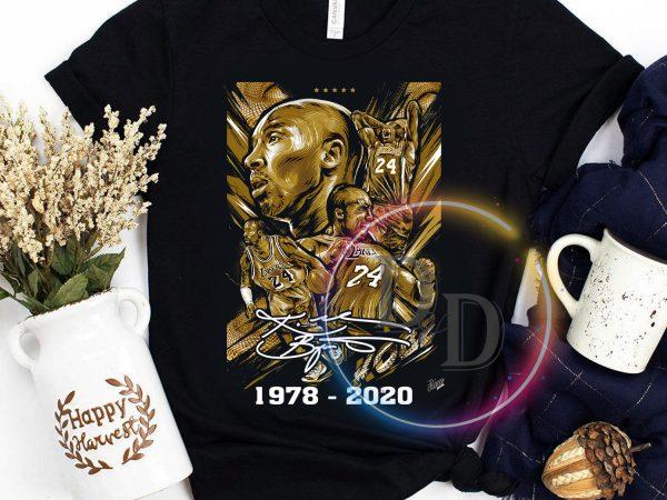 Kobe Bryant Legend Black Mamba 1978 – 2020 T shirt t-shirt design for commercial use