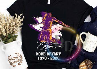 Kobe Bryant 24 Legend Black Mamba 1978 – 2020 T shirt print ready t shirt design