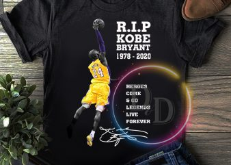 Rip Kobe Bryant Legend Black Mamba 1978 – 2020 T shirt buy t shirt design