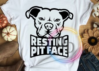 Resting Pitface Pitbull Dog T shirt design
