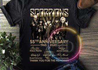Scorpions 55th anniversary 1965 – 2020 Memories T shirt