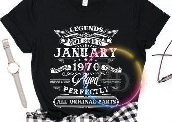 January birthday 1970 Anniversary T shirt