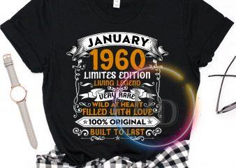 Birthday 2020 January 1960 Birthday T shirt