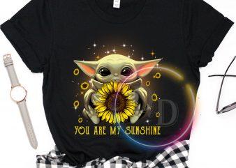 You are my sunshine Baby Yoda Lovely cute t shirt