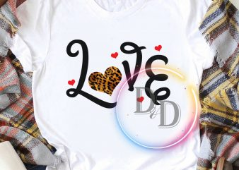 Love leopard gifts valentine t shirt design to buy