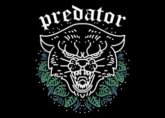 natural predator t shirt design for sale