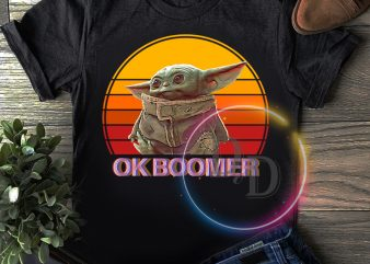 baby yoda ok boomer vintage t shirt