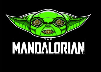 the mandalorian cyborg t shirt designs for sale