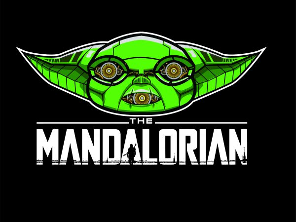 the mandalorian cyborg buy t shirt design for commercial use
