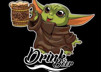 baby yoda the mandalorian drink beer t shirt template