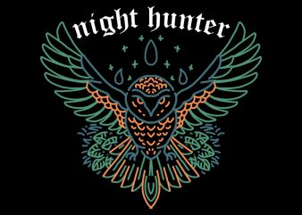 night hunter tshirt design