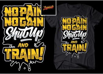 No Pain No Gain – Typography t shirt design png