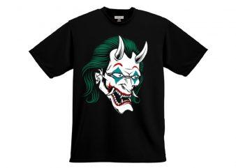 oni joker design vector for t shirt shirt design png